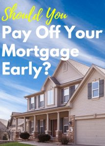 Is it worth it to pay off the mortgage early